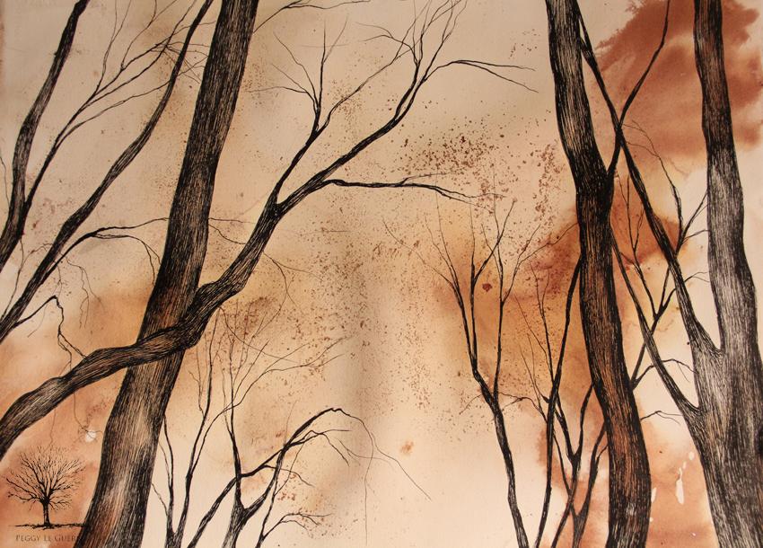 encre noire et brune 2012