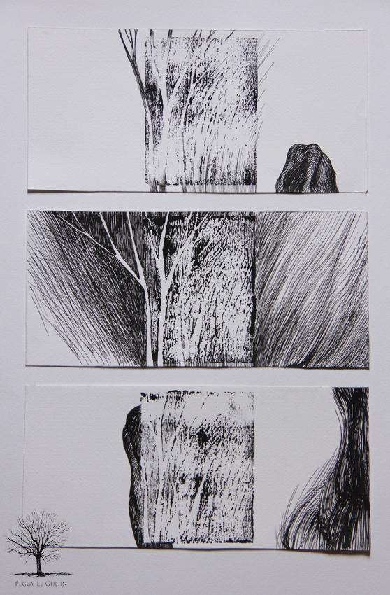 linogravure ; encre noire 2011