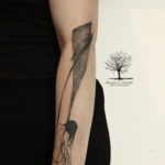 flash silhouette femme pinceau