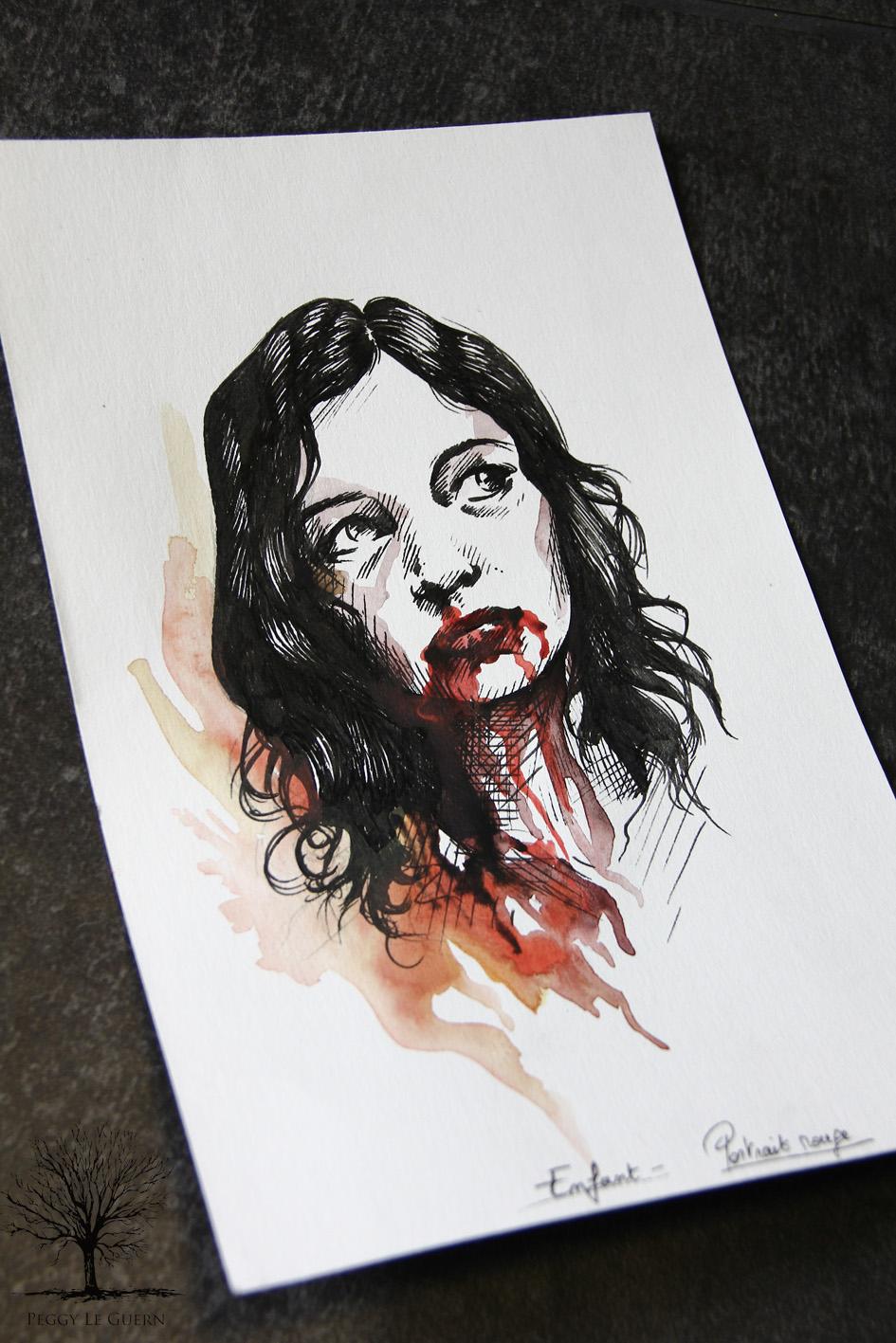 Enfant - portrait rouge