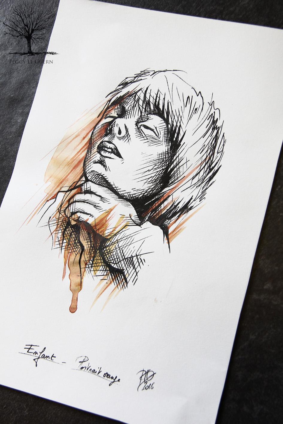 Enfant - portrait orange