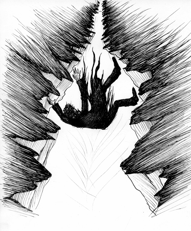 """Illustration du conte """"Les Terres Hostiles"""" issu du 2ème EP éponyme"""